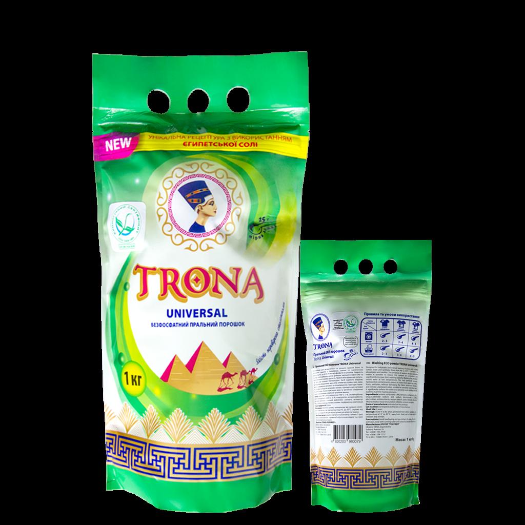 Trona Waschpulver Universal 1,0kg - phosphatfreies Waschpulver für weiße und farbige Wäsche Polymer Ukrajina