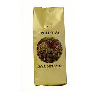 Frolíks Kaffee Diplomat 1000g das Korn Es ist 100% Arabica aus Mittel-, Südamerika und Asien. Jan Frolík - Pražírna kávy
