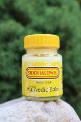 AYURVEDIC HERBAL BALM SIDDHALEPA 25 g für Muskeln, Gelenke, Kopf, Halsschmerzen, Hilfe bei Grippe, Insektenstichen und vielem mehr ……