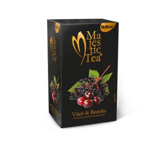 Biogena Majestic Tea Cherry & Elderberry 20x2,5g - Früchtetee mit einer unkonventionellen Kombination aus Kirschen und Holunderbeeren mit leicht saurem Geschmack. Biogena CB s.r.o.