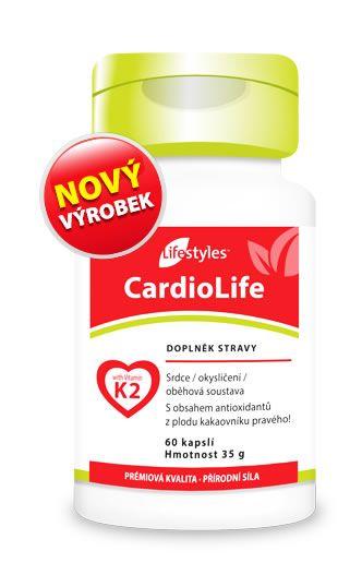 CardioLife 60 Kapseln - Kombination aus Vitamin K2 (MK7), Weißdornextrakt, Vitamin B6, B12 und Folsäure - Nahrungsergänzungsmittel Lifestyles