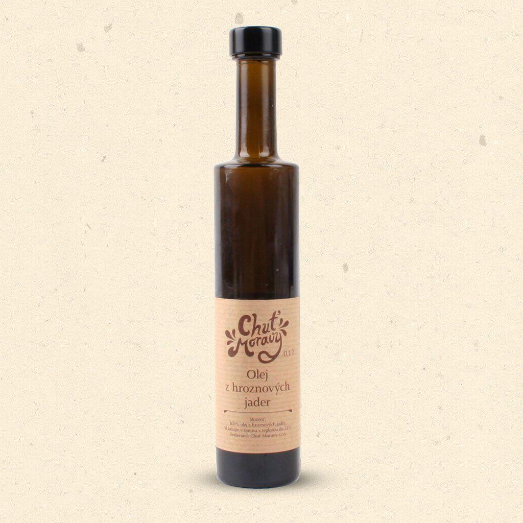 Geschmack von Mähren - Traubenkernöl wirkt sich positiv auf den Organismus aus und ist eine bedeutende Vorbeugung gegen verschiedene Zivilisationskrankheiten. 100 ml Chuť Moravy s.r.o.