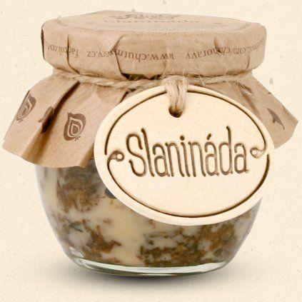 Probieren Sie den Geschmack von Mähren - Speck - mit Marmelade, die nur süß, aber auch salzig ist, ein wenig würzig, duftend nach Gewürzen und gebackenen Speckstücken. 200 ml Chuť Moravy s.r.o.