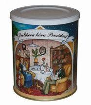 """Frolíks Kaffee Präsident 250g gemahlen - Die Qualität liegt in der Tatsache, dass hier nur Kaffee aus Afrika verwendet wird, daher wird dieses Produkt """"afrikanisches Gold"""" genannt. Der Geschmack dieses Kaffees wird besonders von echten Kaffeekennern Jan Frolík - Pražírna kávy"""