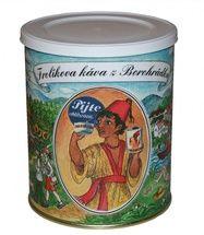 Frolíks Kaffee aus Borohrádek 250 g gemahlen - Diese Mischung mit einem größeren Anteil an Robusta als Arabica 60:40 verwendet die bestbewertete Robusta der Welt. Jan Frolík - Pražírna kávy