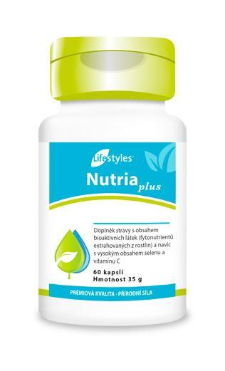 NutriaPlus ist eine Ergänzung, die Obst- und Gemüsekonzentrate, Pflanzenextrakte, Vitamin C und Selen enthält und die Zellen vor oxidativem Stress schützt! Lifestyles